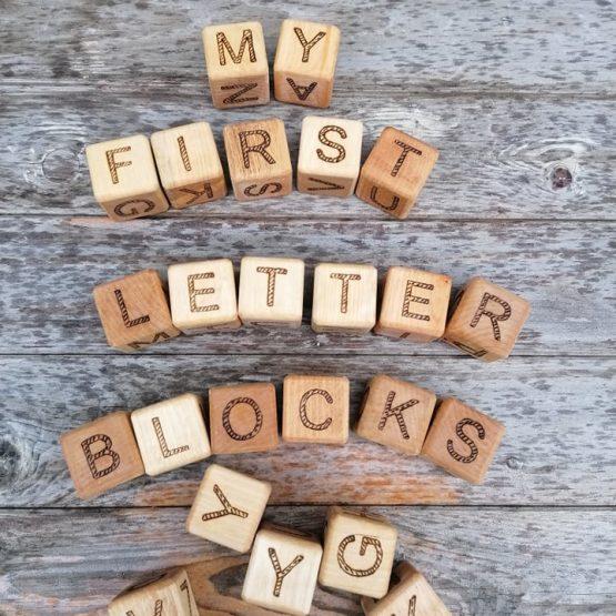 Wooden letters alphabet